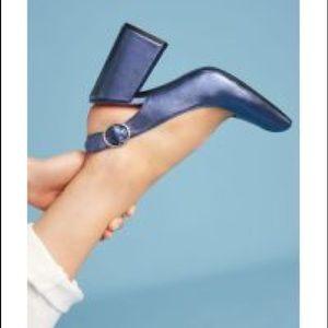 Anthro Shellys London Chester slingback heels